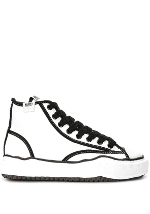 Maison Mihara Yasuhiro two-tone high-top sneakers - White