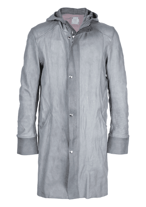 Guidi hooded button up jacket - Grey