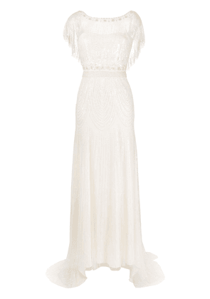 Jenny Packham Dolly tulle-embellished wedding gown - Neutrals