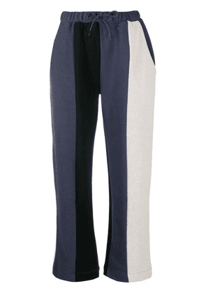 Être Cécile panelled retro crop trackpants - Blue