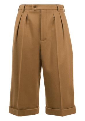 Saint Laurent cropped tailored trousers - Brown