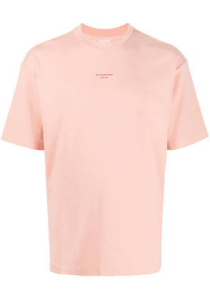 Drôle De Monsieur round neck cotton T-shirt - PINK