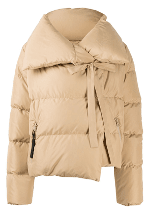 Bacon wrap-tie padded jacket - Neutrals