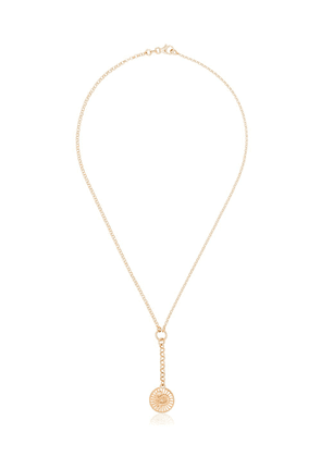 Foundrae 18kt yellow gold Wholeness baby medallion Belcher chain - Metallic