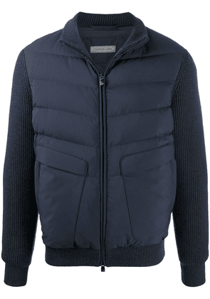 Corneliani knitted jacket with padded detail - Blue