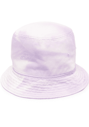 We11done embossed-logo bucket hat - PURPLE
