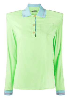 Versace structured-shoulder polo shirt - Green