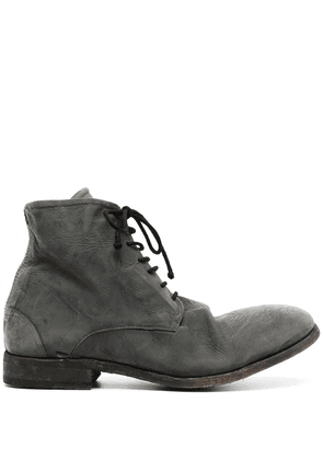 Isaac Sellam Experience chunky lace-up leather boots - Grey