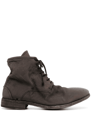 Isaac Sellam Experience chunky lace-up leather boots - Brown
