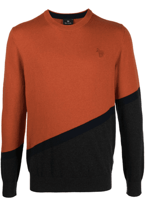 PS Paul Smith colour block jumper - ORANGE