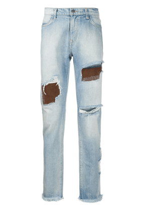 424 ripped straight-leg jeans - Blue
