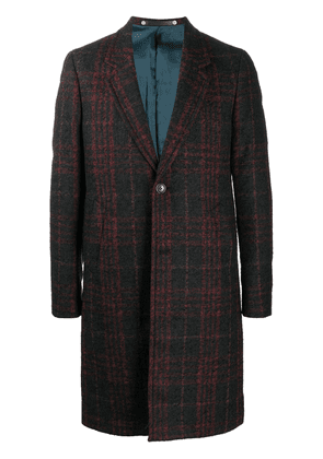 PS Paul Smith checked single-breasted coat - Black