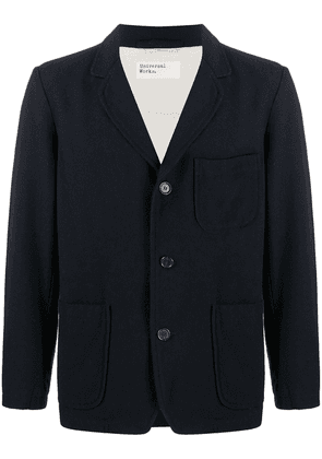 Universal Works three button blazer jacket - Blue