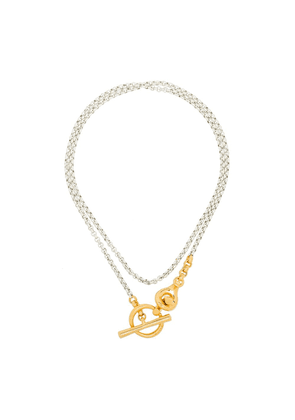 Charlotte Chesnais Halo two tone necklace - SILVER