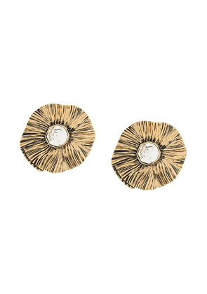 Saint Laurent Héritage Radiating Sun earrings - GOLD