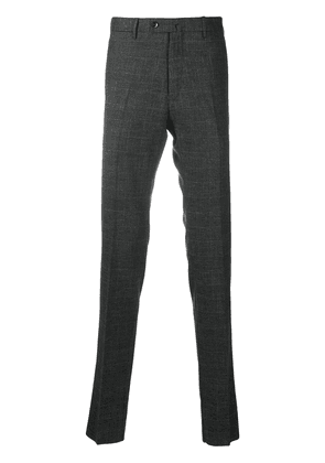 Pt01 slim-fit check trousers - Grey