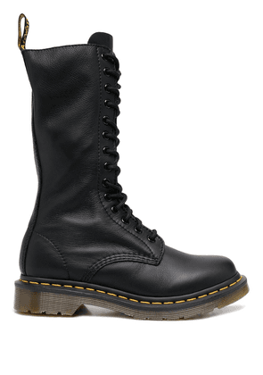 Dr. Martens chunky lace-up leather boots - Black