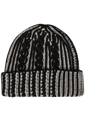 Alexander McQueen cable-knit beanie hat - Black