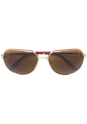 Cartier Eyewear rectangular aviator sunglasses - Metallic