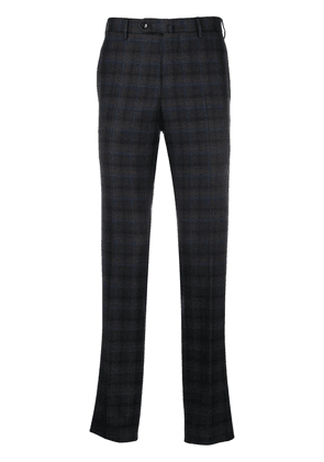 Pt01 slim-fit check trousers - Brown