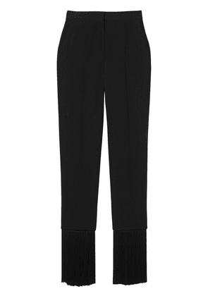 Burberry fringed edge tailored trousers - BLACK