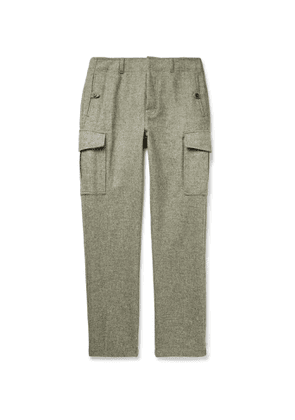 Aimé Leon Dore - Slim-Fit Mélange Wool Cargo Trousers - Men - Gray