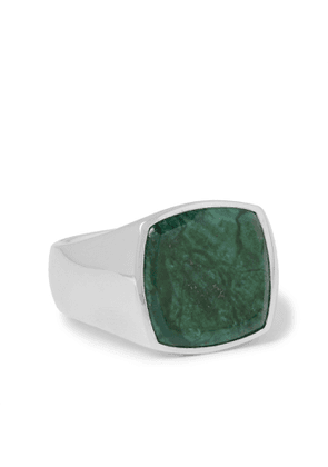 TOM WOOD - Sterling Silver Marble Signet Ring - Men - Silver