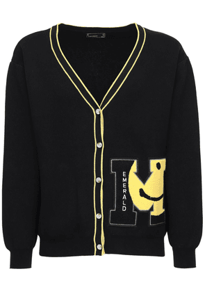 Smiley Tech Cardigan W/patches