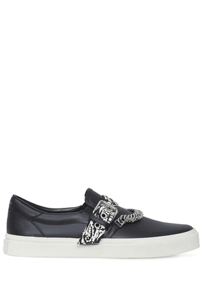 Bandana Chain Leather Low-top Sneakers