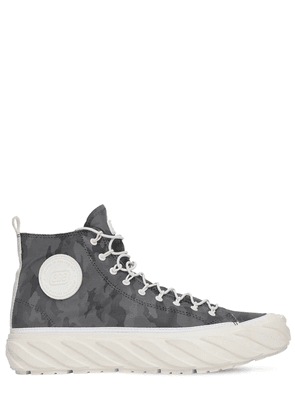 Carbon Coated Reflective High Sneakers