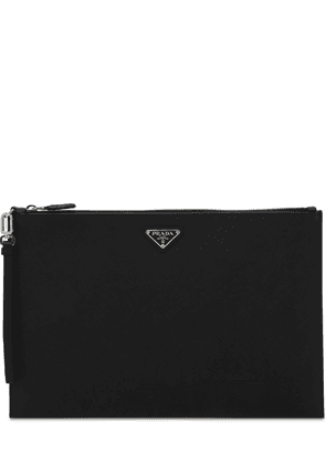 Logo Leather Pouch