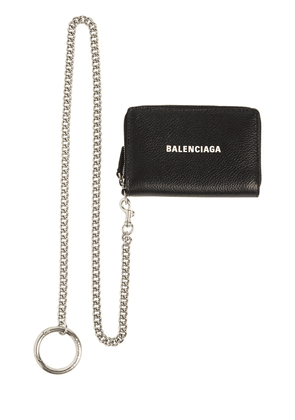 Logo Leather Card Case W/ Chain