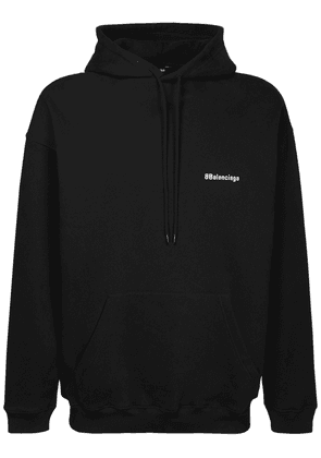 Logo Embroidered Cotton Hoodie