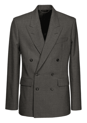 Double Breasted Houndstooth Jacket