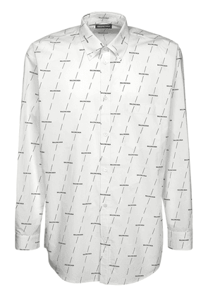 Allover Logo Print Poplin Shirt
