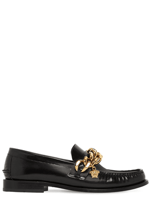 Leather Loafers W/ Chain