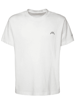 Logo Embroidery Cotton Jersey T-shirt
