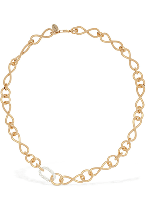 Bacopa Short Necklace W/ Crystal Detail