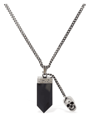 Evening Black Glass Long Necklace