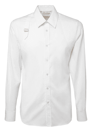 Cotton Poplin Shirt W/ Harness Detail