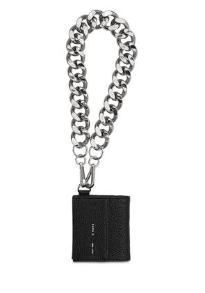 Bifold Leather Chain Wallet