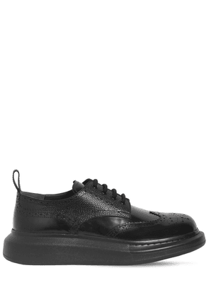 Leather Platform Lace-up Shoes