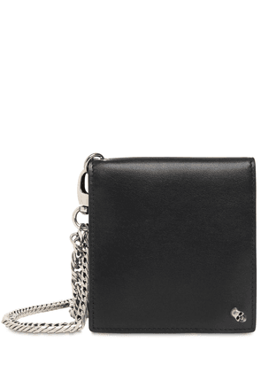 Skull Leather Wallet W/chain