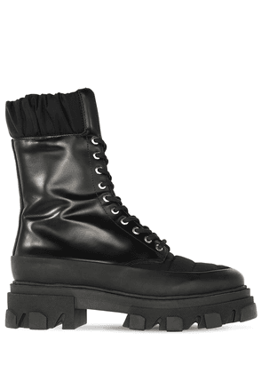 45mm Nylon & Leather Combat Boots