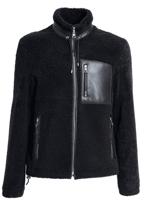 Shearling Jacket W/ Leather Pocket