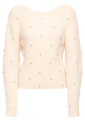 Wool Blend Sweater W/ Crystals
