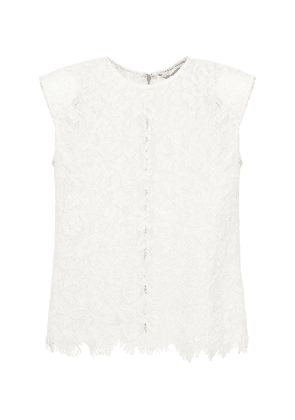 Sleeveless Cord Lace Top