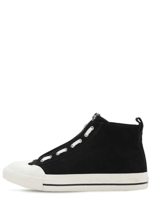 Astico Leather Zip High Top Sneakers