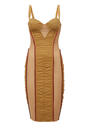 Alanis Quilted Nylon & Cotton Dress