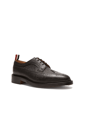 Thom Browne Classic Long Leather Wingtips in Black - Black. Size 10 (also in 10.5, 11, 11.5, 12, 8.5, 9.5).